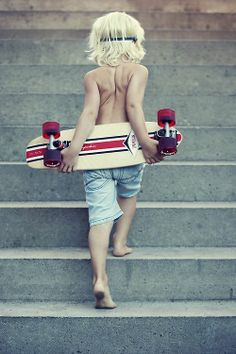 So cute - This young boy is foreordained to become the whooping cough of the skate park of his quarter