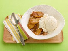 Warm Apples and Ice Cream recipe from Rachael Ray via Food Network