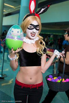 Easter-themed Harley Quinn #Cosplay #WonderCon2014
