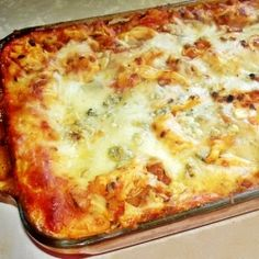 Creamy Buffalo Chicken Lasagna
