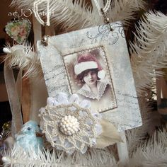 RELISTED and REDUCED - Your choice - 1 mixed media Christmas ornament  - no 348