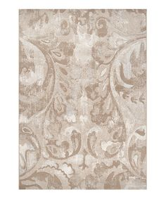 Look what I found on #zulily! Beige & Cream Contempo Rug #zulilyfinds