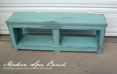 I need 2 of these benches for my front porch!  Running With Scissors: Entry Bench