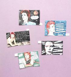 David Bowie stickers - Ziggy Stardust, Life on Mars?, Diamond Dogs