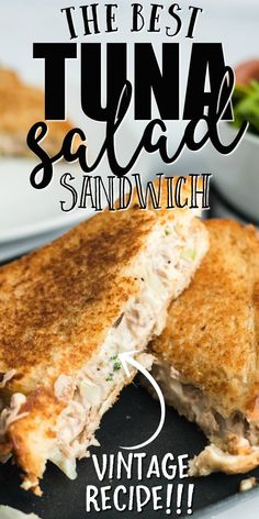 This grilled tuna salad sandwich is made from staples you& already have in your pantry, making it the perfect option for a quick afternoon snack or an easy dinner. Tuna Sandwich Recipes, Tuna Melt Sandwich, Tuna Melts, Grilled Sandwich, Tuna Recipes, Soup And Sandwich, Salad Sandwich, Seafood Recipes, Cooking Recipes