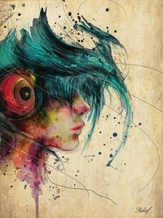 #art #blue #hair #girl