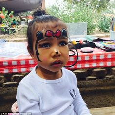 Kim Kardashian has shared some adorable photos of her daughter North West having her face painted as Minnie Mouse.Minnie Mouse 🎀A photo posted by Kim Kardashian West ( on May 2015 a. Kim Kardashian And Kanye, Kardashian Jenner, Kris Jenner, Kardashian Beauty, Kardashian Photos, Kardashian Style, Celebrity Kids, Celebrity Gossip, Kanye West