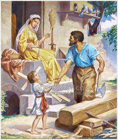 Niño Jesús Ayudando a José Jesus Help, God Jesus, Relationship Prayer, Jesus Christ Images, Christian Images, Catholic Art, Holy Family, Prayer Cards, St Joseph
