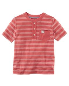 Kid Boy Striped Henley from Carters.com. Shop clothing & accessories from a trusted name in kids, toddlers, and baby clothes.