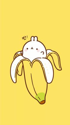▷ 1001 + nice pictures to paint and video instructions - Kawaii picture to paint, draw your own banana, yellow background, cute pictures to draw - Doodles Kawaii, Cute Kawaii Drawings, Cute Animal Drawings, Cute Doodles, Emoji Drawings, Cute Wallpaper Backgrounds, Wallpaper Iphone Cute, Cute Cartoon Wallpapers, Wallpapers Android