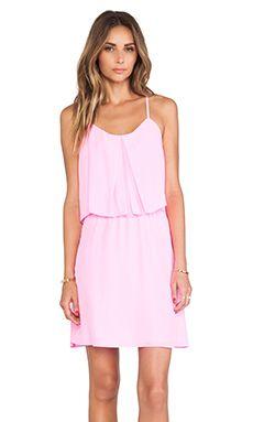 Amanda Uprichard Summer Mini Dress in Shocking Pink | REVOLVE