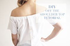 DIY Off The Shoulder Top Tutorial (No Sew)