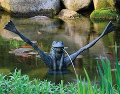 Add some fun to your pond or water feature with our Crazy Legs Frog Spitter  with