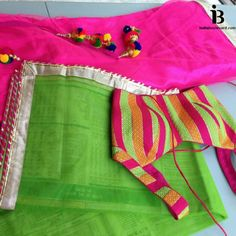 A little bit of neon doesn't hurt. This gorgeous printed stripy colourful blouse is paired with a neon green dupatta and a rani pink lehenga. The latkans add that little #bollywood touch. For all prices and inquries, please email us at inquiries@indiaboulevard.com or visit us at indiaboulevard.com #indiancouture #desicouture #indianwear #desifashion #indianfashion #fashionista #customindianwear #allthingsindian #newdesigners #lehenga #bridal #indianembroidery #couture #ootd #aw15 #igers