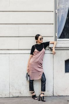 Street Style | Underwear as Outerwear | Get the Look | Trend 2016 | Fall Trend | Steal the Look | How to Wear | Intimates | Underwear | Slip Dress
