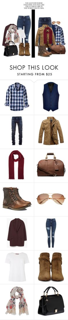 """#126"" by the-sassy-1 on Polyvore featuring Banana Republic, River Island, Balmain, Burberry, Michael Kors, Caterpillar, MANGO, Topshop, MaxMara and Yves Saint Laurent"