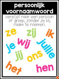 Juf-Stuff: Posters word types - Back to School School Hacks, Learning Quotes, Fun Learning, Mobile Learning, Education Quotes, Educational Leadership, Educational Technology, Learn Dutch, School