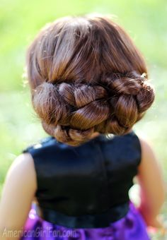 americangirlf - Style Are you bored by the old hairstyles of the ponytail? If so, then use Common braids , particularly fo # cornrows Braids boys # fancy Braids for kids Ag Doll Hairstyles, American Girl Hairstyles, Old Hairstyles, Braided Bun Hairstyles, Little Girl Hairstyles, Beautiful Hairstyles, Braided Buns, Messy Buns, Updo Hairstyle