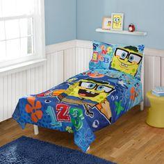 SpongeBob SquarePants Toddler Bedding 4-Piece Set