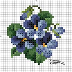 pattern / chart for cross stitch, knitting, knotting, beadi Cross Stitch Cards, Beaded Cross Stitch, Cross Stitch Flowers, Cross Stitching, Cross Stitch Embroidery, Embroidery Patterns, Hand Embroidery, Cross Stitch Designs, Cross Stitch Patterns