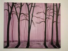 Original Oil Romantic Forest on Stretched canvas by ArtByKatieK, $90.00
