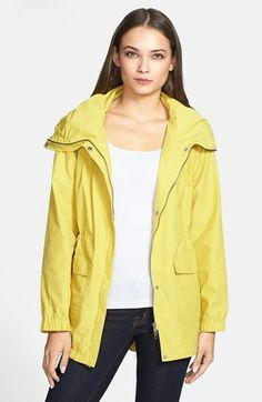 Eileen Fisher High Collar Cotton Blend Coat available at #Nordstrom