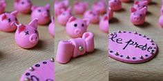 Piggy toppers for cupcakes for LEprase :)