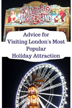 Advice for Visiting Winter Wonderland in London. An Attraction in Hyde Park London for the Christmas Holidays - Sunny in London