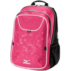 Mizuno Lightning 2 Daypack Team Backpack Volleyball Blue And White Girls Teen for sale online Volleyball Gear, Day Backpacks, North Face Backpack, Briefcase, Lightning, Messenger Bag, Camping, Stuff To Buy, Duffel Bags