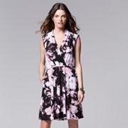 Women's Simply Vera Vera Wang Print Crepe Fit & Flare Dress