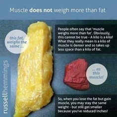 Muscle does not weigh more than fat!