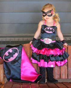 Girls Super hero Costume by CuriosityoftheGeeks on Etsy, $75.00