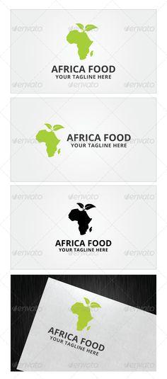 Africa Food Logo Template by Romaa Roma, via Behance