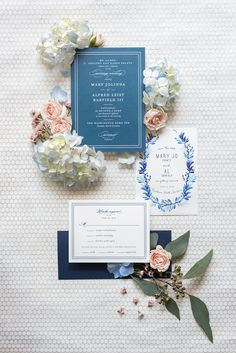 Mikkel Paige Photography pictures of a venue in Durham, North Carolina. The Washington Duke Inn is perfect for a summer wedding! Planning for this beautiful event was by McLean Events. The bride and groom chose a blue invitation suite for their day. Click through for more details about this June wedding with peonies! #MikkelPaige #DurhamWeddings #WashingtonDukeInn #DukeWedding #Duke #McLeanEvents #blueandwhitewedding #weddingstationery #stationery #hydrangea #blueweddinginvitation