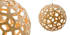 Coral pendant light - by David Trubridge. Brialliant design combined with eco asthetic. Bamboo Pendant Light, Bamboo Light, Modern Pendant Light, Pendant Lighting, Ceiling Pendant, Pendant Lamp, Modern Lighting, Lighting Design, Lighting Sale