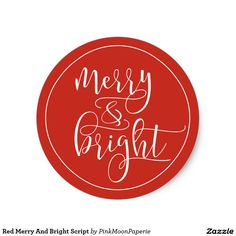 Red Merry And Bright Script