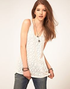 Beautiful Basics:  Zadig and Voltaire Pointelle Design Tank