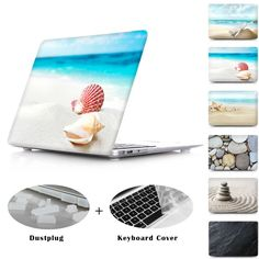 awesome Free Keybaord Cover Shell on the Beach Hard Cover Case For Macbook Air 11 13 Pro Retina 12 13 15 Laptop Case Pebble on the Sandy