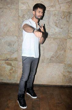 Shahid Kapoor at #UdtaPunjab screening. #Bollywood #Fashion #Style #Beauty #Hot