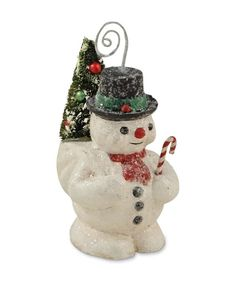 Vintage Snowman Ornament or Placecard Holder from The Holiday Barn
