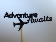This Adventure Awaits cake topper has been made from high quality glitter cardstock and mounted on cocktail sticks. This topper measure approximately 4.5cm by 12cm from the widest point to the widest point. Please note that this cake topper is one sided. This design is exclusive to my shop & is designed by The Procraftinator.  ❉❉❉❉❉❉❉❉❉❉❉❉❉❉❉❉❉❉❉❉❉❉❉❉❉❉❉❉❉❉❉❉❉❉❉❉  More items in this range can be found here: https://www.etsy.com/uk/shop/TheProcraftinator/searc...