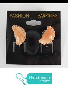 Miniature Food Empanada Earrings pierced Food Earrings Fake from Chef Gina's LLC http://www.amazon.com/dp/B0155BFT04/ref=hnd_sw_r_pi_dp_4mhHwb0Y0P30R #handmadeatamazon
