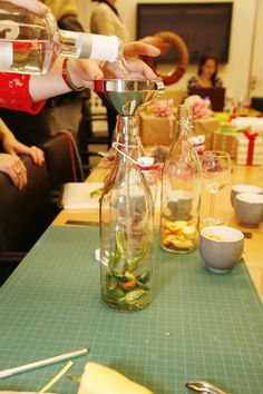 Step 3 of @Michelle Edgemont's Infused Vodkas: Fill with vodka. #pinspirationparty