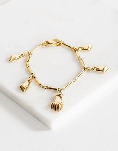 Shop ARO. Right Hand Charm Bracelet