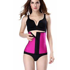 Cinta Modeladora Rosa Academia Shapewear Espartilhos Afinador de Cintura