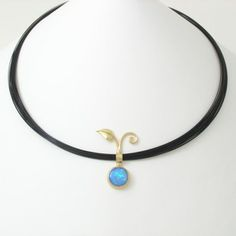 Caleb Meyer Leaf and Opal Pendant #2679