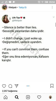 Mood Quotes, Happy Quotes, Life Quotes, Silence Is Better, Ridiculous Pictures, Turkish Lessons, Learn Turkish Language, Instagram Bio, English Words