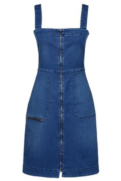 Keep denim looking current in this MOTO pinafore dress. Team it with a casual tee to finish the look. Denim Fashion, Teen Fashion, Fashion Outfits, Denim Pinafore, Pinafore Dress, Salopette Jeans, Stella Mccartney Dresses, Bleached Denim, Women's Evening Dresses