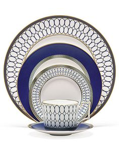 Wedgwood Dinnerware, Renaissance Gold 5 Piece Place Setting - Fine China - Dining & Entertaining - Macy's