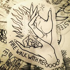 FIREWALKWITHME -JeanSaïd- Twin Peaks flash for our new lovely collaborator @lareinealien!